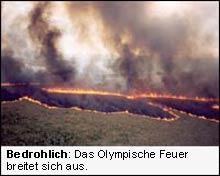 Das olympische Feuer breitet sich aus