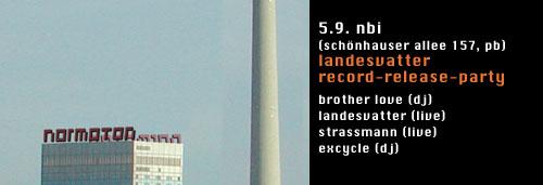 05.09.2003 landesvatter record release party schönhauser allee 157